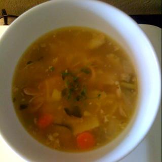 Chicken Noodle Soup: Best.Medicine.Ever.